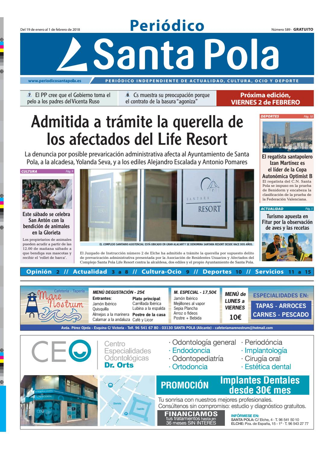 Periódico Santa Pola 19/1/18 nº 589 by Periódico Santa Pola - issuu