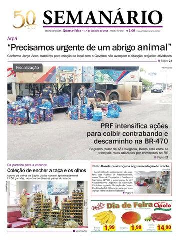 Jornal Semanário - 17 de janeiro de 2018 - Ano 51 - Nº 3404 by ... 9efb2c01305a3