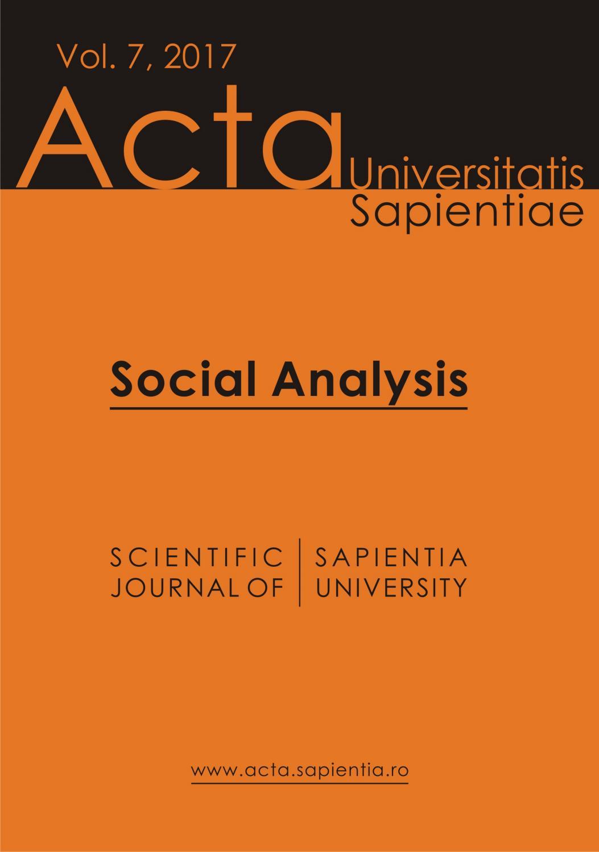Social Analysis Vol 7 2017 By Acta Universitatis