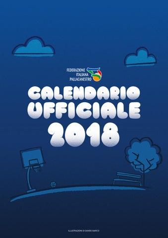 Italbasket Calendario.Calendario Ufficiale Fip Anno 2018 By Italbasket Issuu