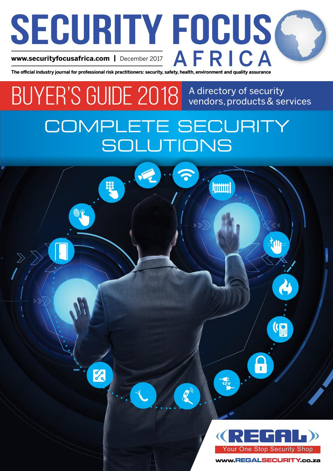 Security Focus Africa Buyers Guide 2018 by Contact