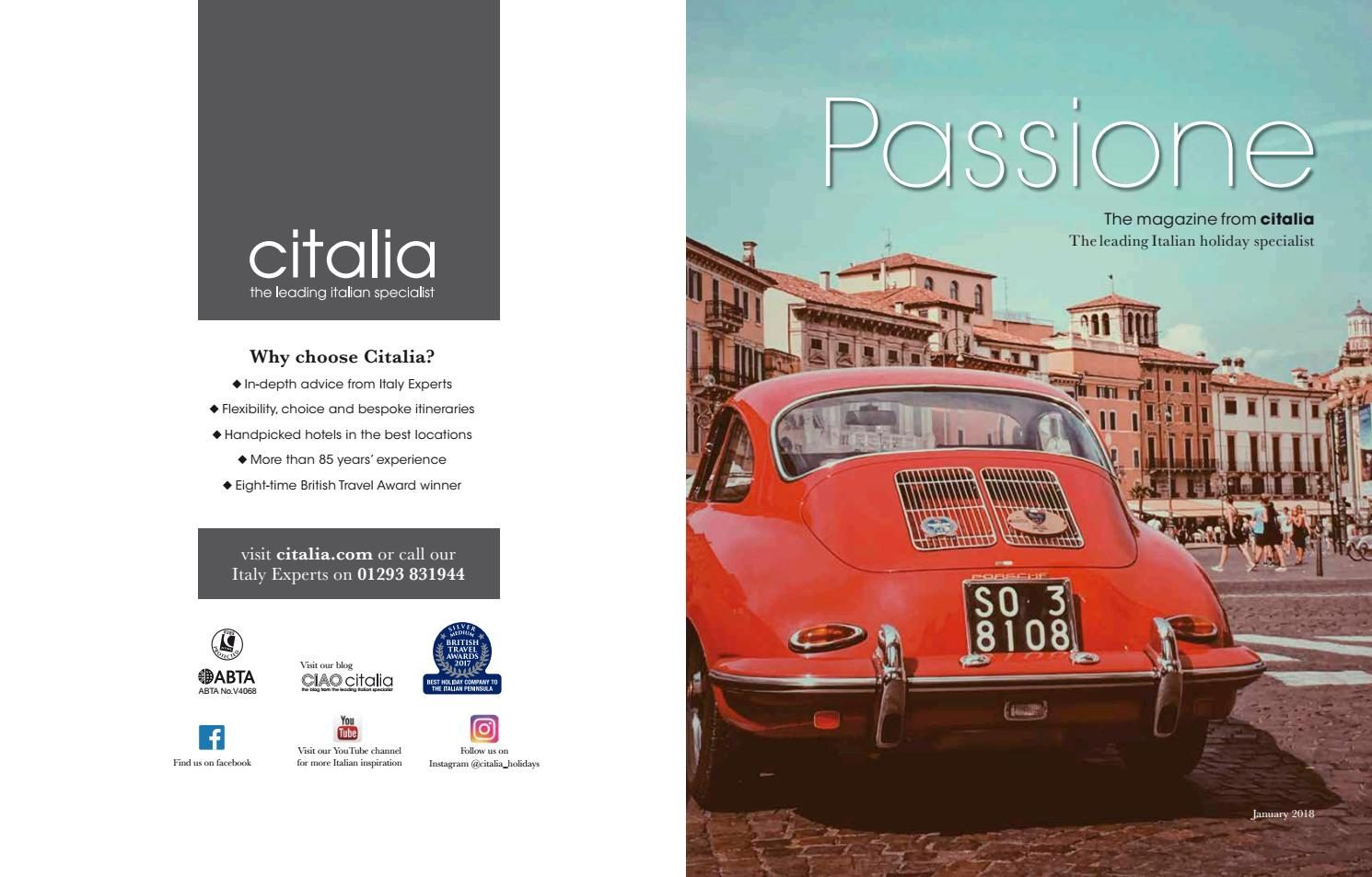 Passione Magazine Jan 18 By Travelopia Issuu
