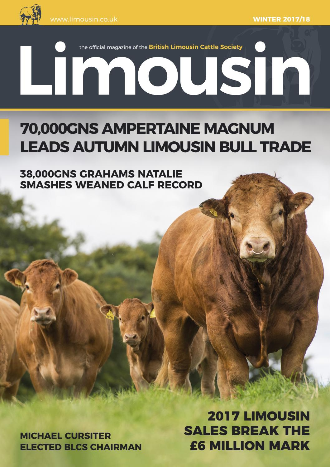 Winter 2017 BLCS Magazine by British Limousin Cattle Society - issuu
