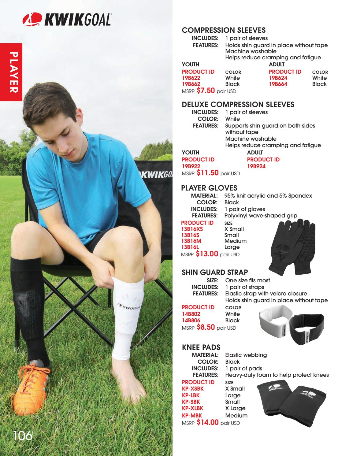 d9139f1b6 Kwik Goal Deluxe Compression Sleeves Team Sports Sports & Outdoors
