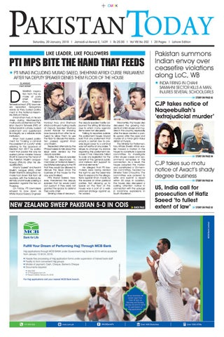 E paper pdf 20th january (lhr) by Pakistan Today - issuu