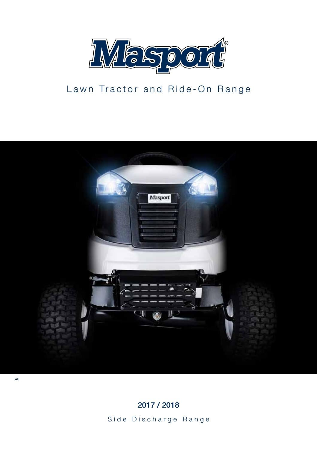 Masport Lawn Tractor and Ride-On Range SDR AU 2017-2018 by