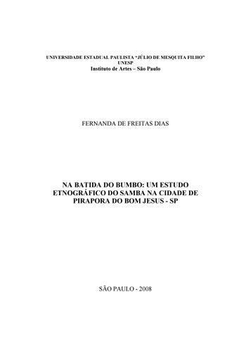 9425439dde Na batida do bumbo  um estudo etnográfico do samba na cidade de ...