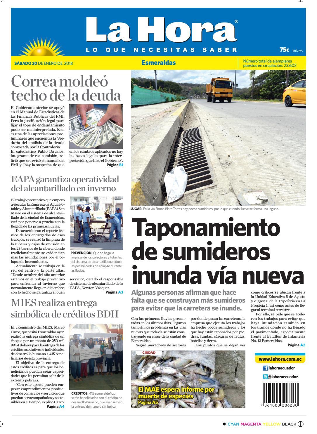 5c03d8beb274a Esmeraldas 20 de enero de 2018 by Diario La Hora Ecuador - issuu