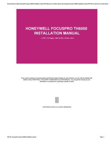 honeywell focuspro th6000 installation manual by v503 issuu rh issuu com
