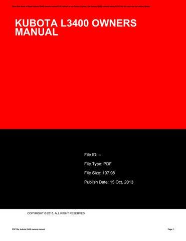 kubota l3400 owners manual by mor1965 issuu rh issuu com kubota l3200 owners manual pdf kubota l3400 service manual