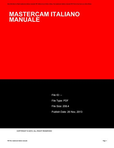 mastercam italiano manuale by mailed37 issuu rh issuu com  manuale italiano mastercam pdf