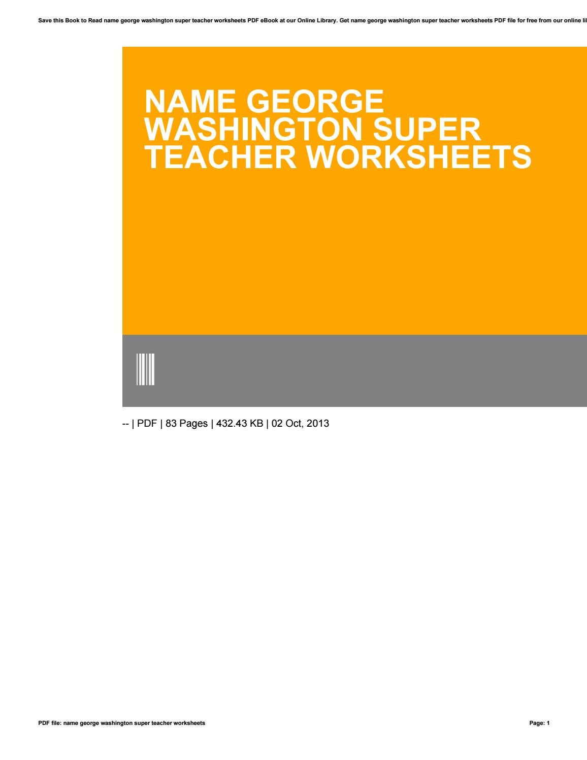Workbooks super teacher worksheets pdf : Name george washington super teacher worksheets by te110 - issuu