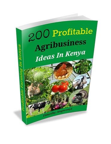 200 profitable agribusiness ideas 1 by I love reading - issuu