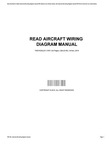 read aircraft wiring diagram manualfreealtgen182  issuu