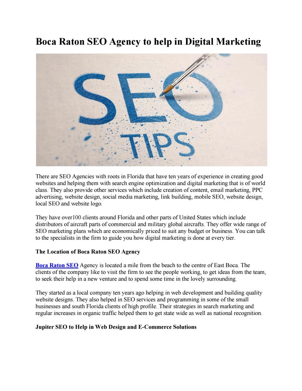 Boca raton seo agency to help in digital marketing by 561 Website