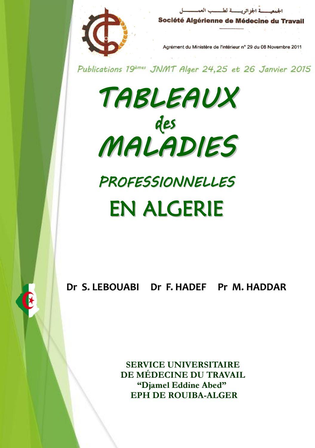 Les Maladies Professionnelles En Algerie By Samt Algerie Issuu