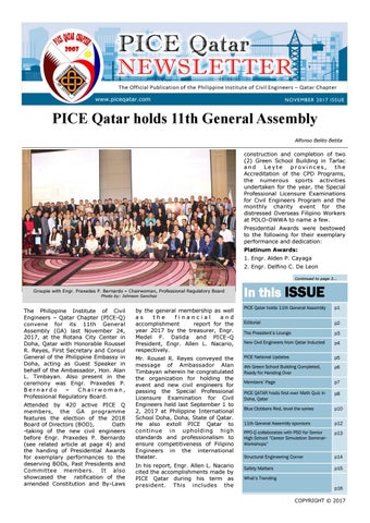 Pice qatar newsletter november 2017 issue by felipe catinoy bs ce page 1 fandeluxe Gallery