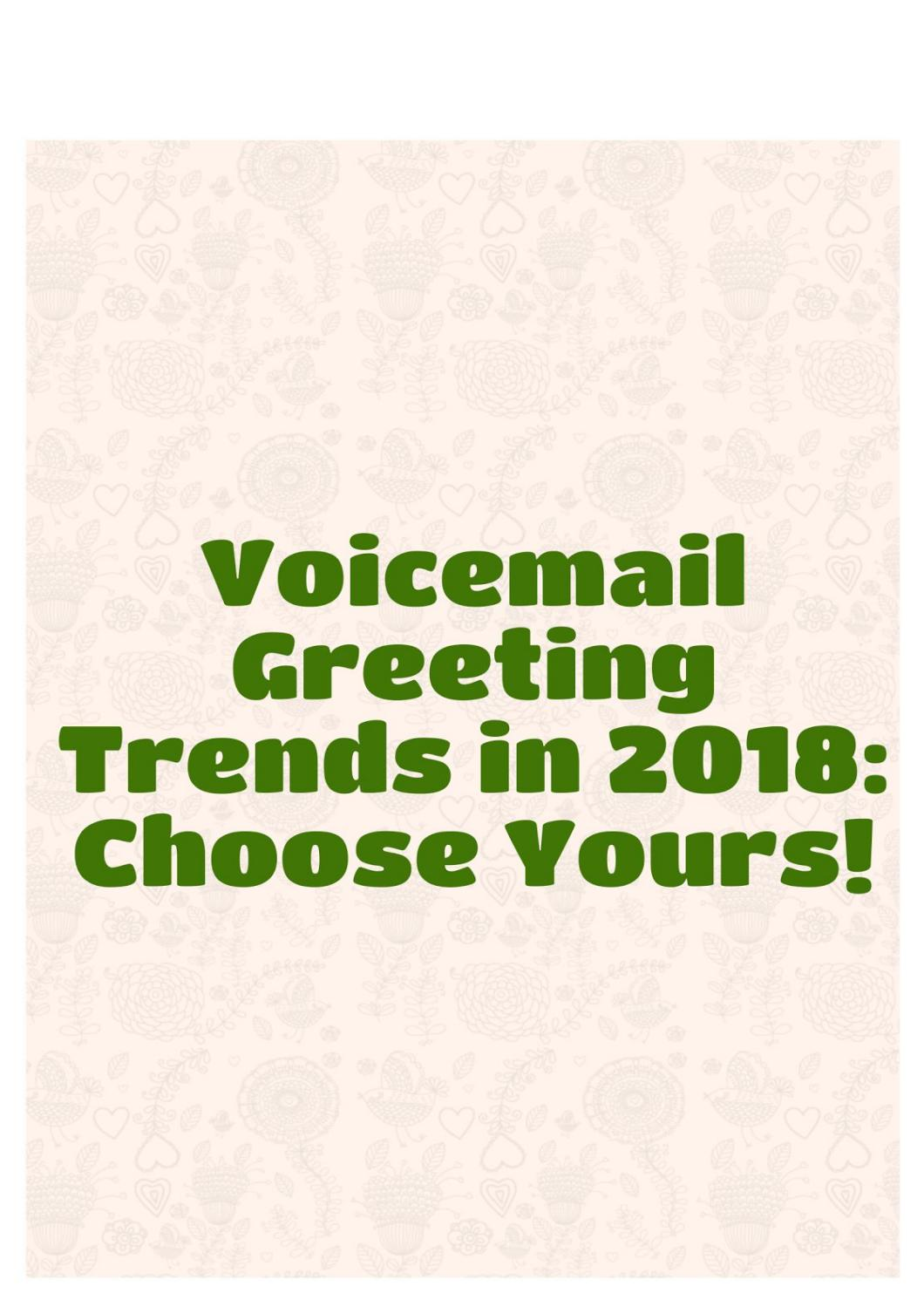 Good Personal Voicemail Greetings Choice Image Greetings Card