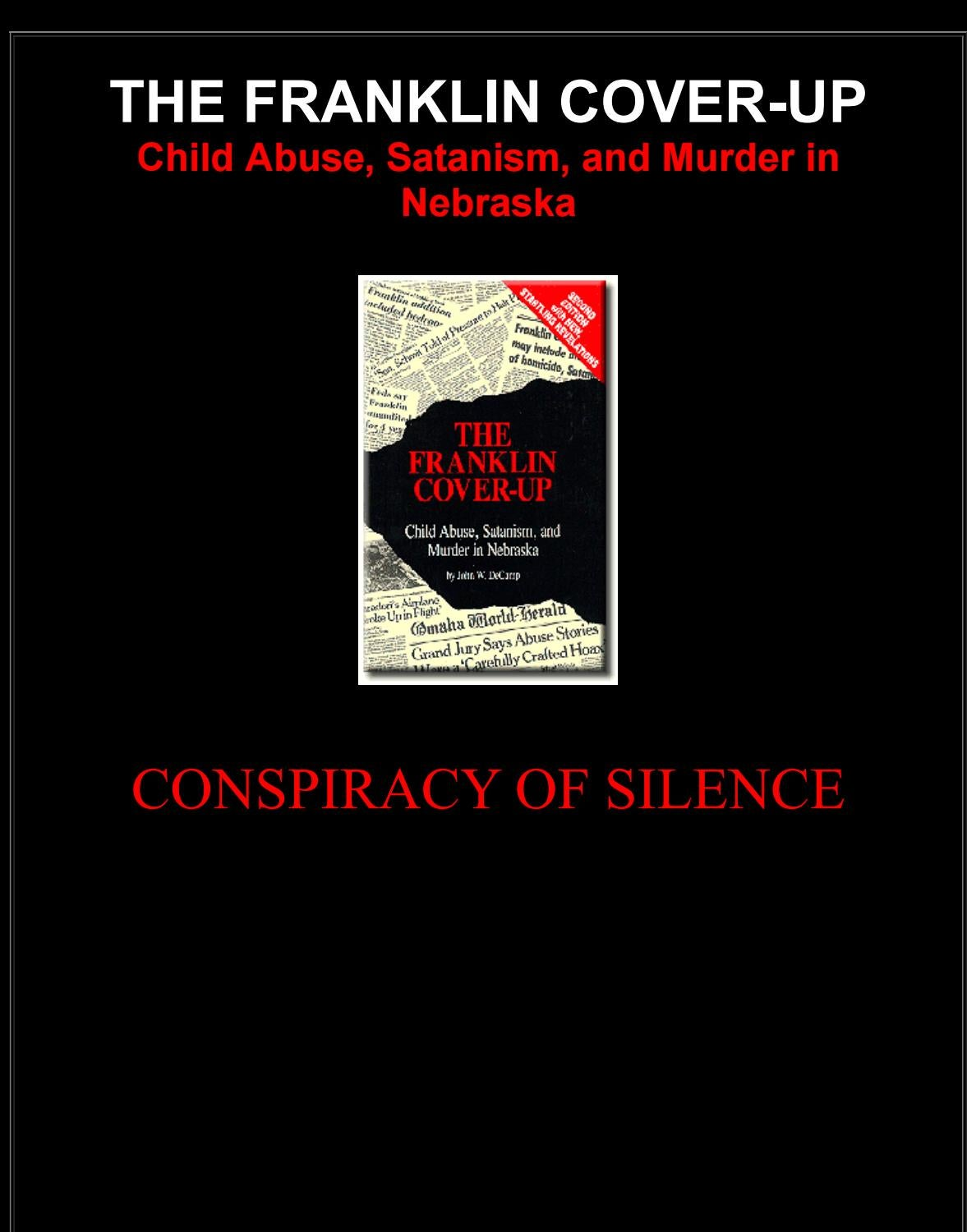 The Franklin Cover Up Child Abus By Keith Knight Dont Tread On