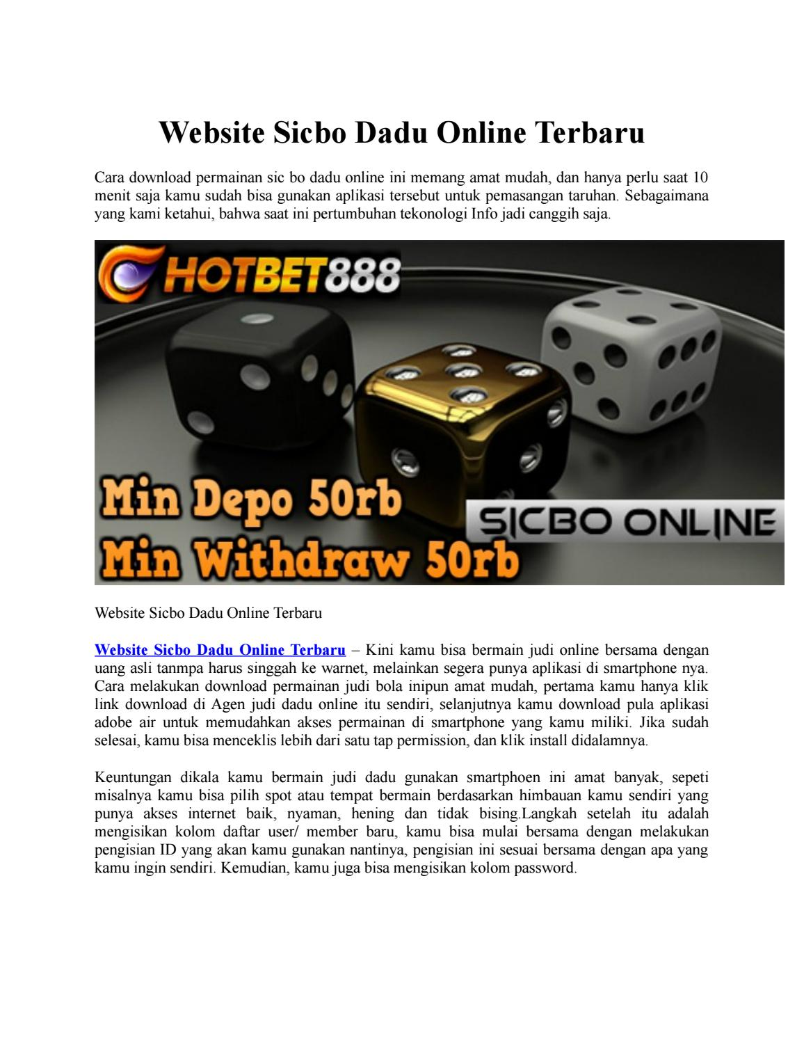 Website Sicbo Dadu Online Terbaru By Graham Lee Hotbet888 Issuu