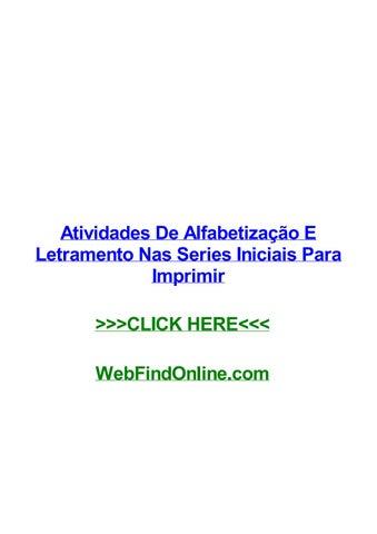 Atividades De Alfabetizag Gјo E Letramento Nas Series Iniciais