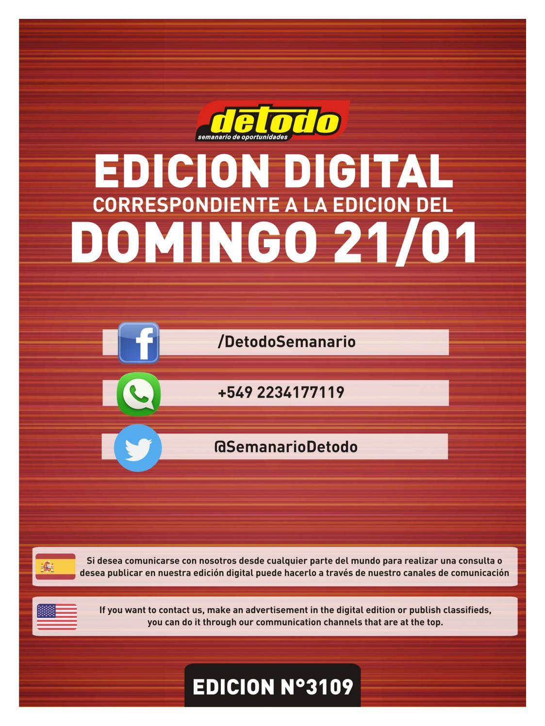 d34f565a5 Semanario Detodo - Edición N° 3109 - 21/01/2018