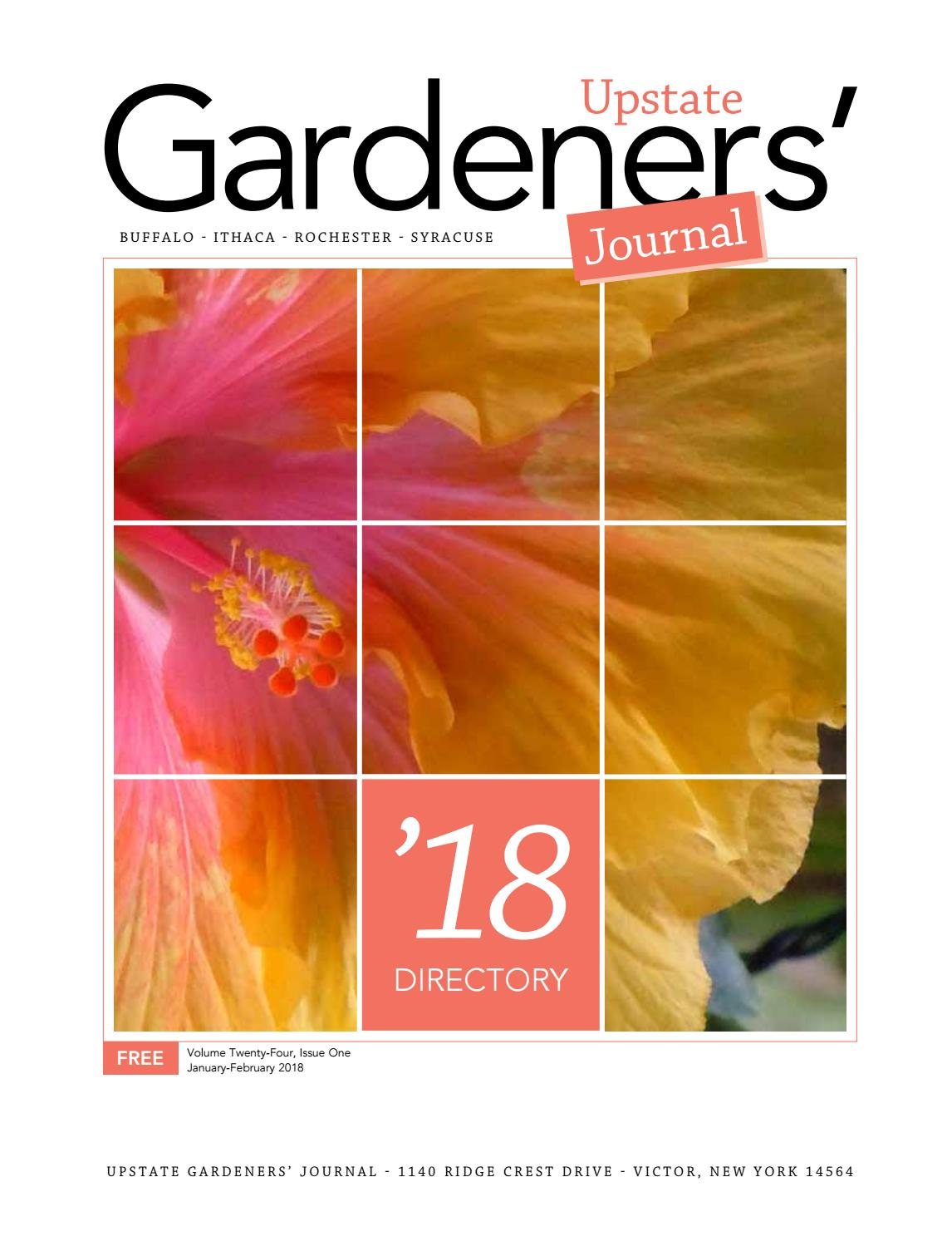upstate gardeners' journal directory 2018 by upstate