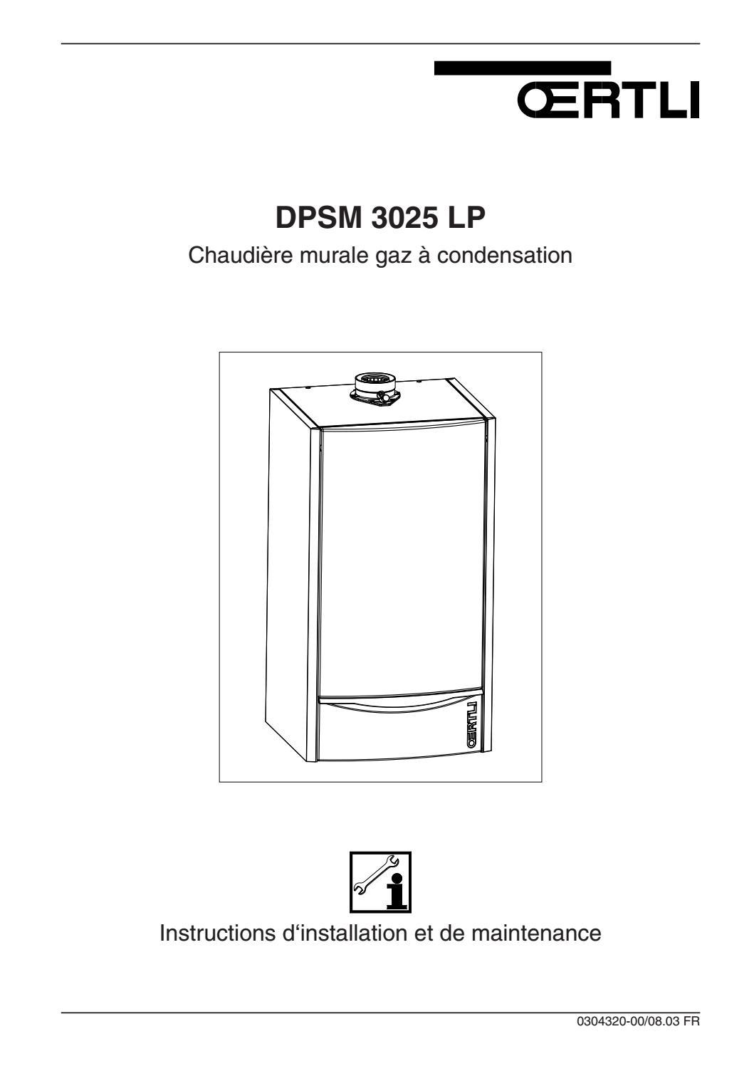 Installation Chaudière À Condensation oertli chaudiere gaz condensation dpsm 3025 lp notice