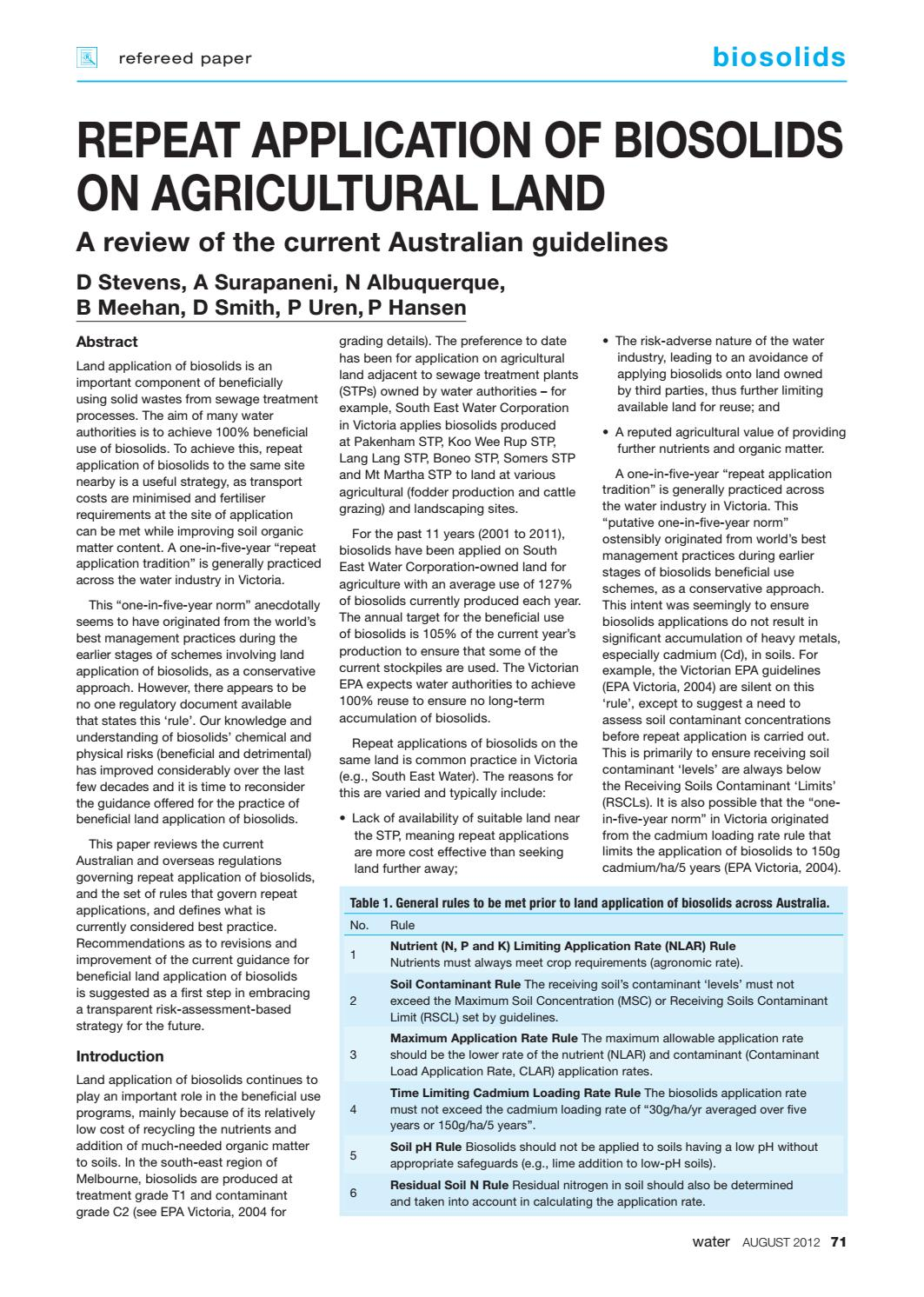 Water Journal August 2012 by australianwater - issuu