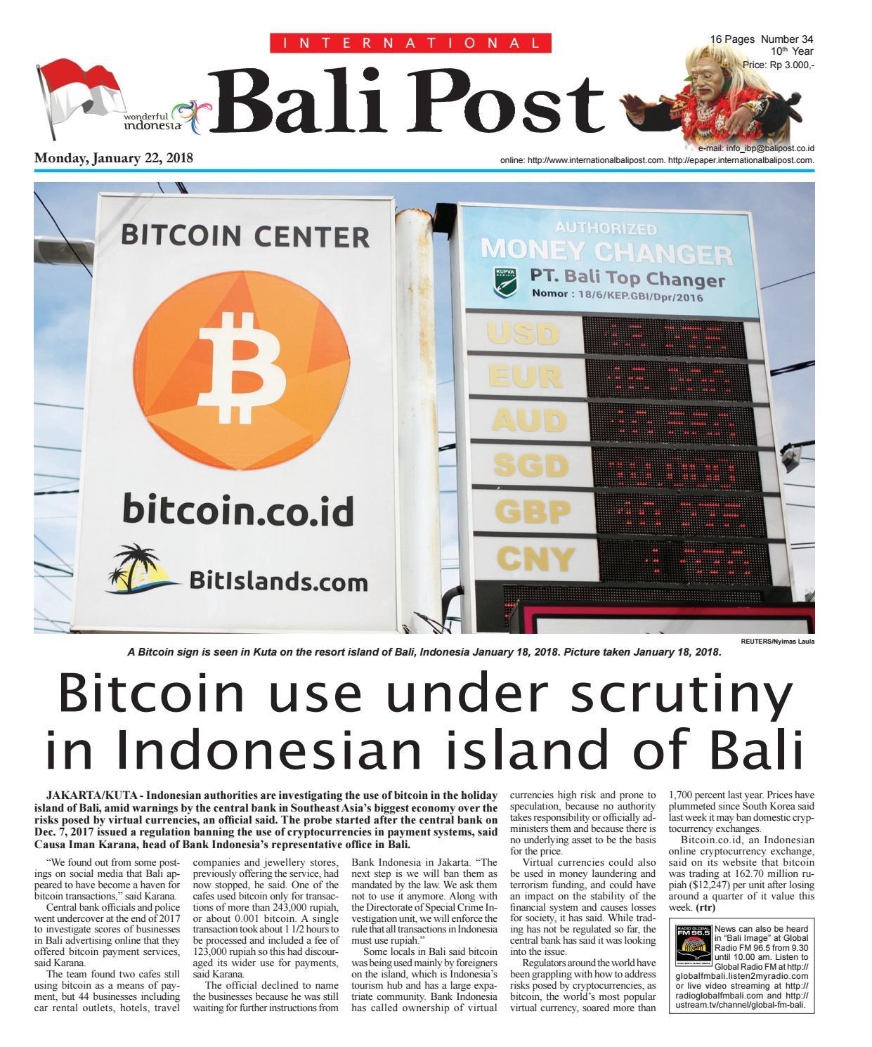 Edition Monday January 22 2018 International Bali Post By E  # Muebles Bima La Boyera
