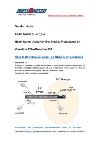 Lead2pass New ACMP_6.4 Exam PDF Ensure ACMP_6.4 Certification Exam ...