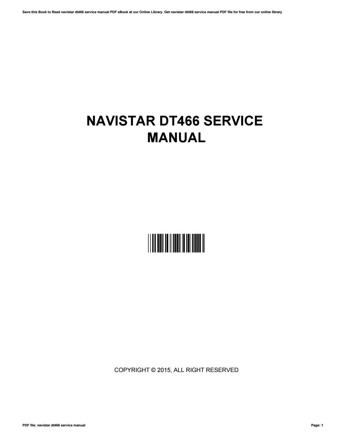 Dt466 Navistar manual on
