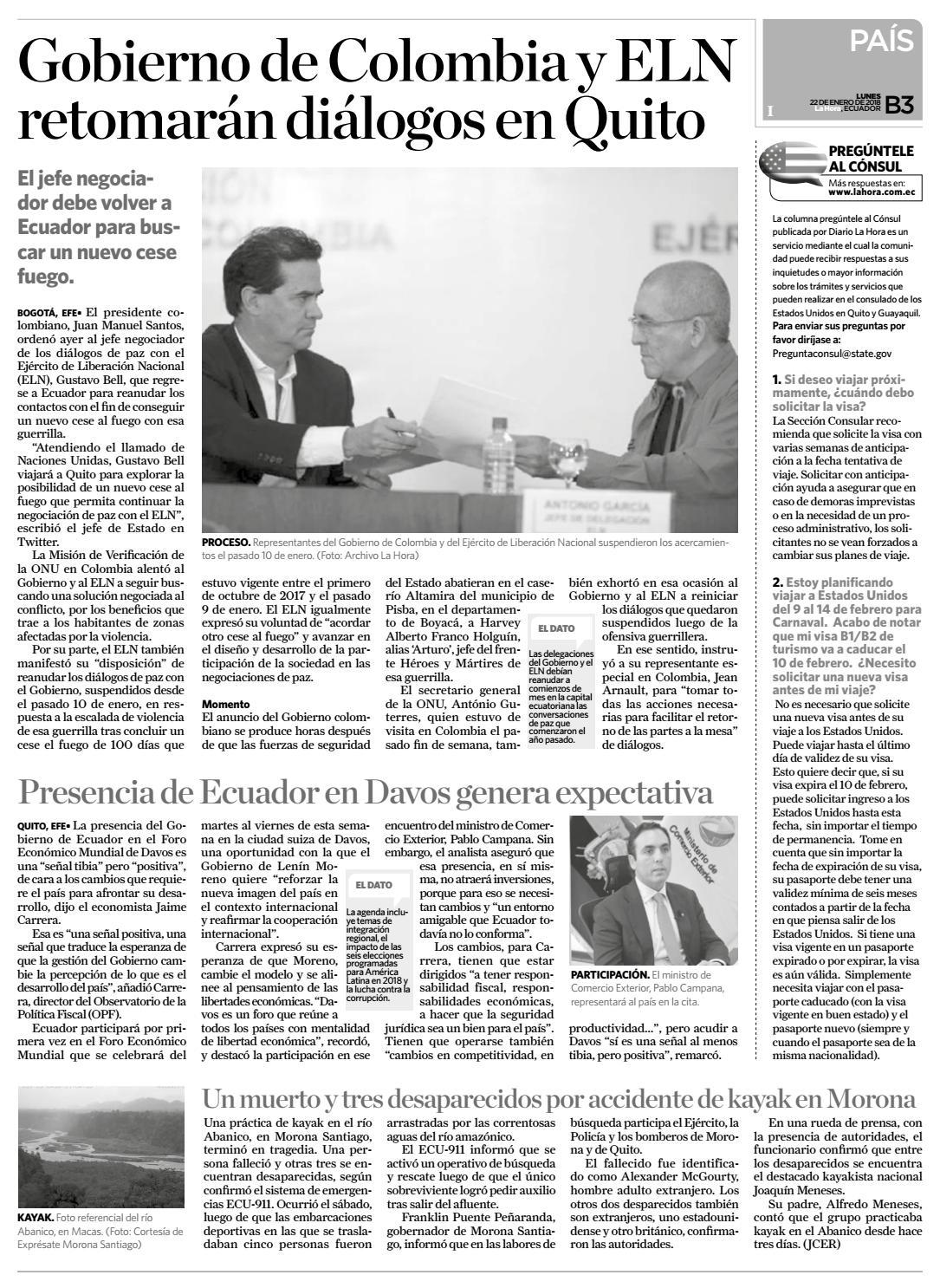 Santo domingo 22 de enero del 2018 by Diario La Hora Ecuador - issuu