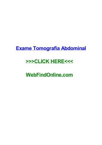 tomografia de abdomen en ingles