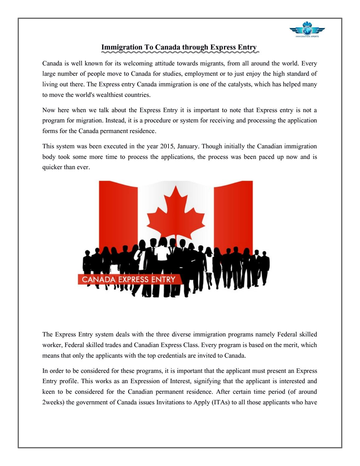 how to get immigration for canada
