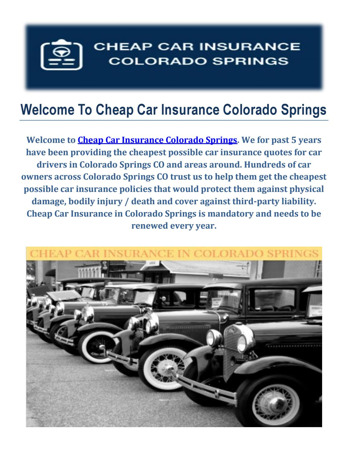 Get Cheap Car Insurance in Colorado Springs, CO by Cheap ...