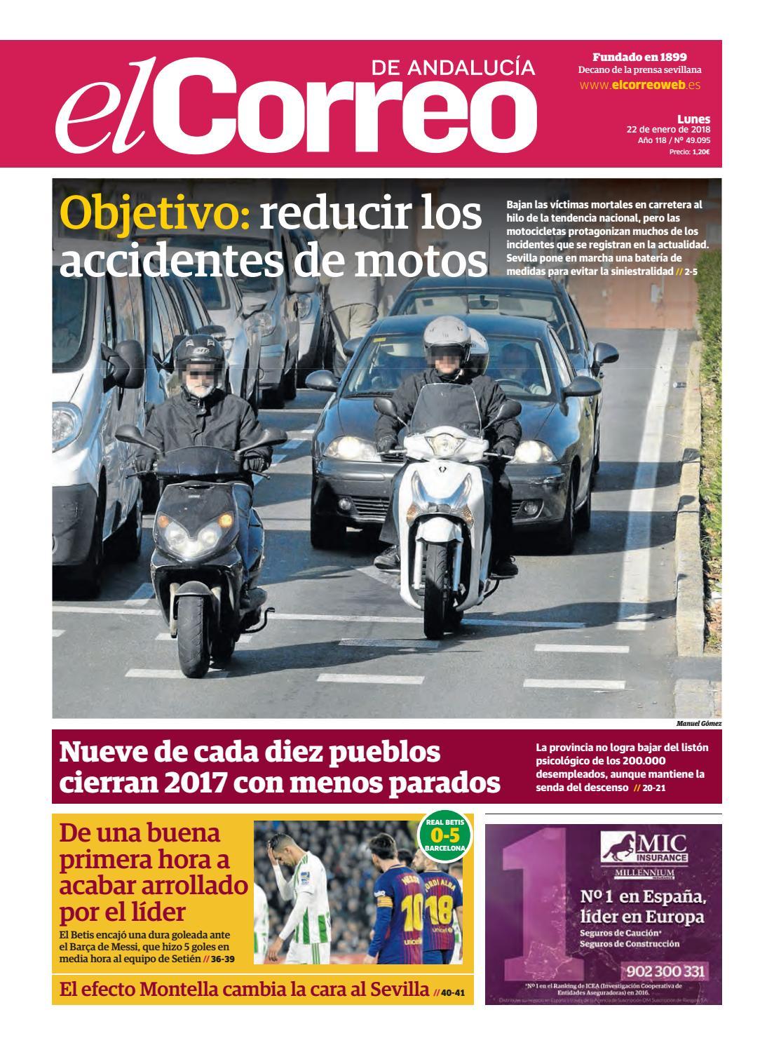 22 01 2018 El Correo De Andaluc A By El Correo De Andaluc A S L  # Muebles Pepe Jesus Vecindario