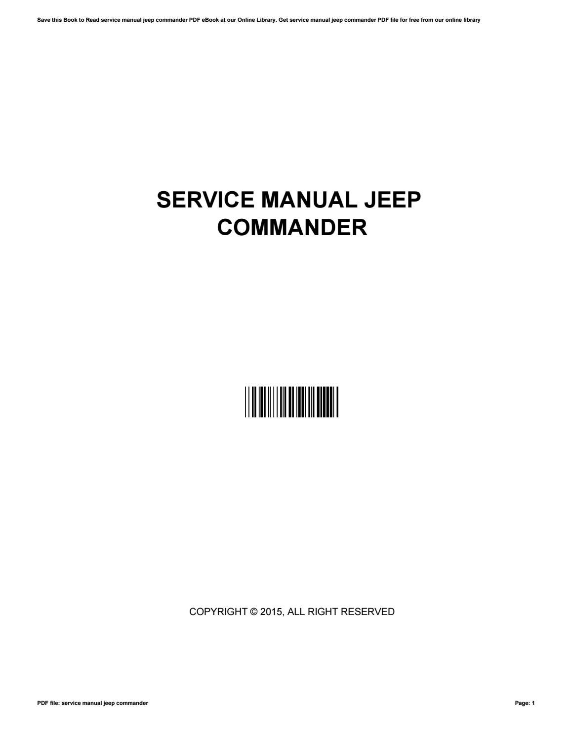 Service manual jeep commander by j4015 - Issuu