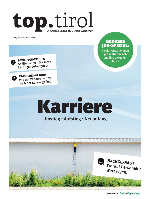 top.tirol Karriere Jänner 2018 by TARGET GROUP Publishing GmbH - issuu