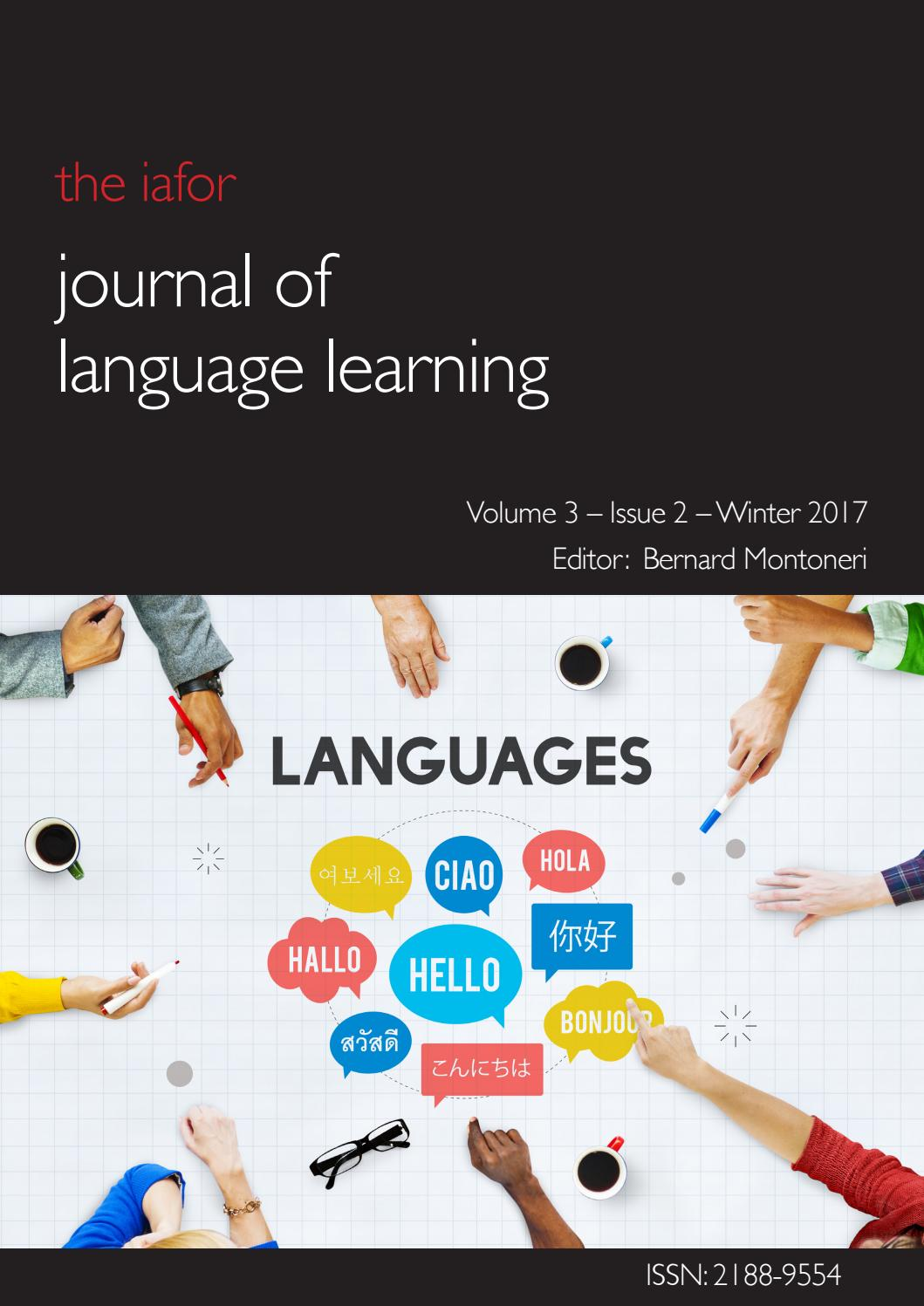 IAFOR Journal of Language Learning Volume 3 Issue 2 by IAFOR