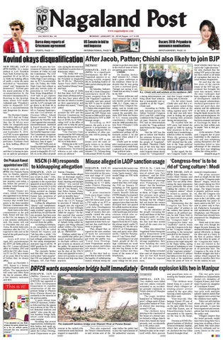 January 22, 2018 by Nagaland Post - issuu