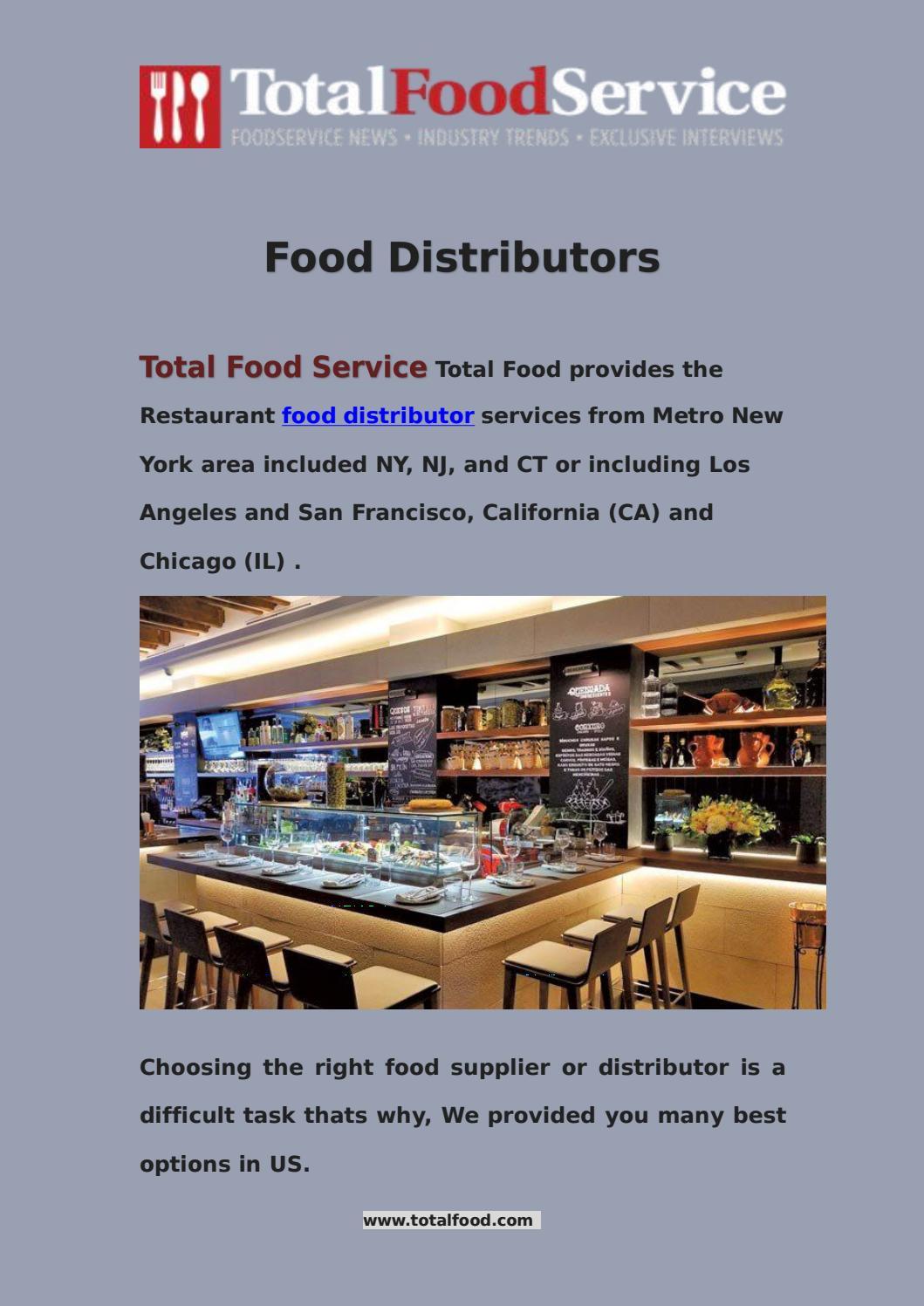 Food distributors - Total Food Services by Total Food
