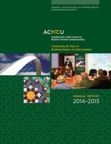 ACMCU 2014-2015 Annual Report by School of Foreign Service ... a0cbdb4b9e47
