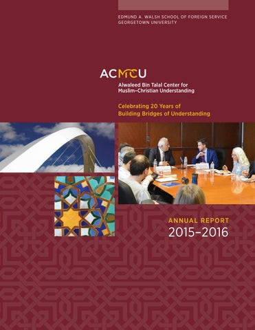 ACMCU 2015-2016 Annual Report by School of Foreign Service ... a45c5db58a70
