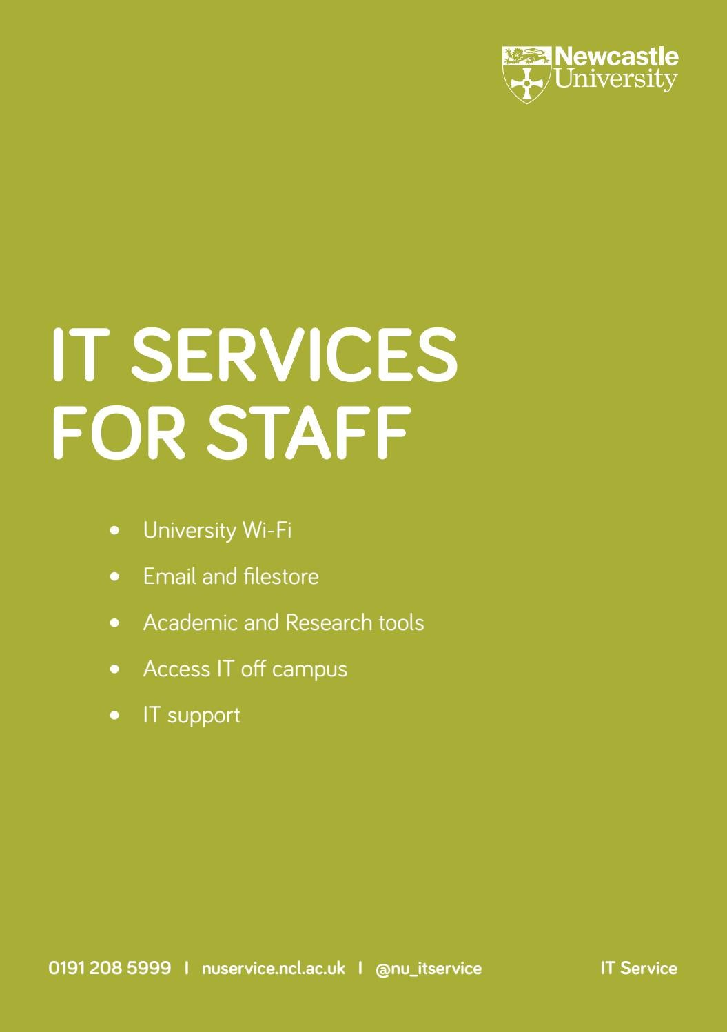 It Services For Staff By Newcastle University It Service Issuu