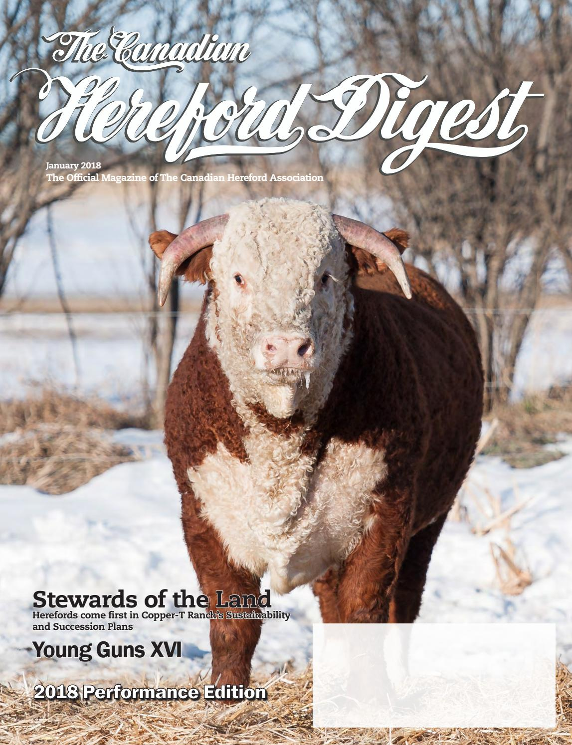 Canadian Hereford Digest January 2018 by Canadian Hereford Association -  issuu