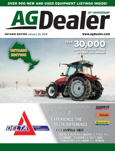AGDealer ALL Ontario Edition, January 22, 2018 by Farm