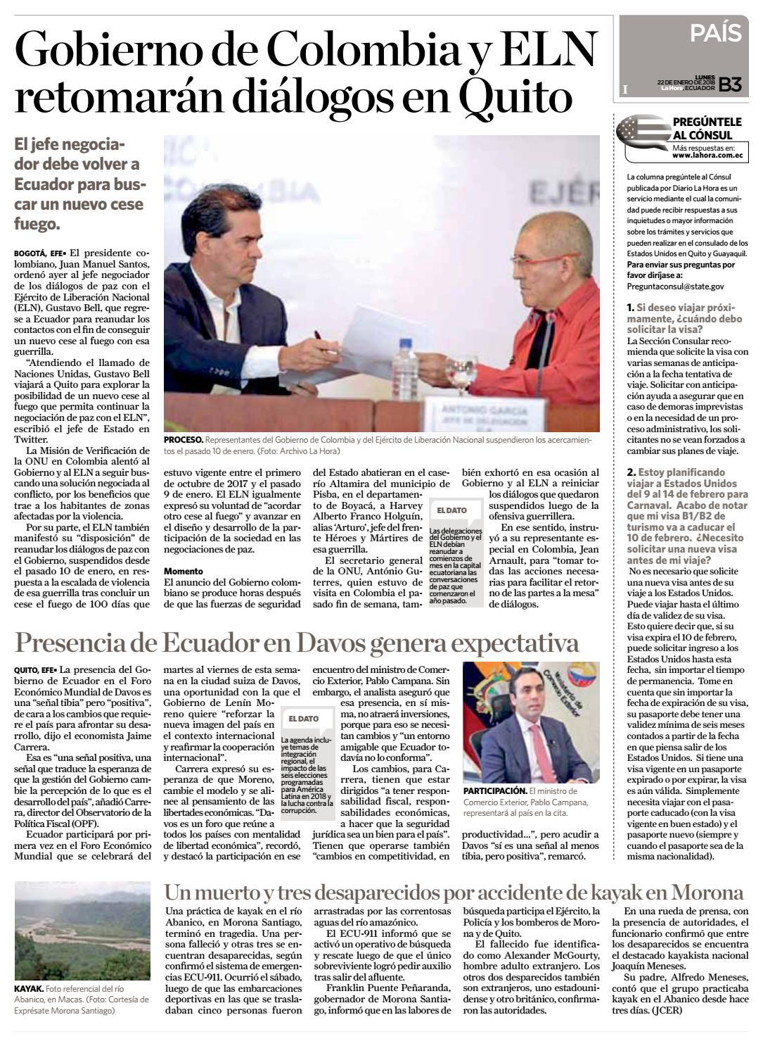 Diario La Hora Loja 22 de Enero 2018 by Diario La Hora Ecuador - issuu