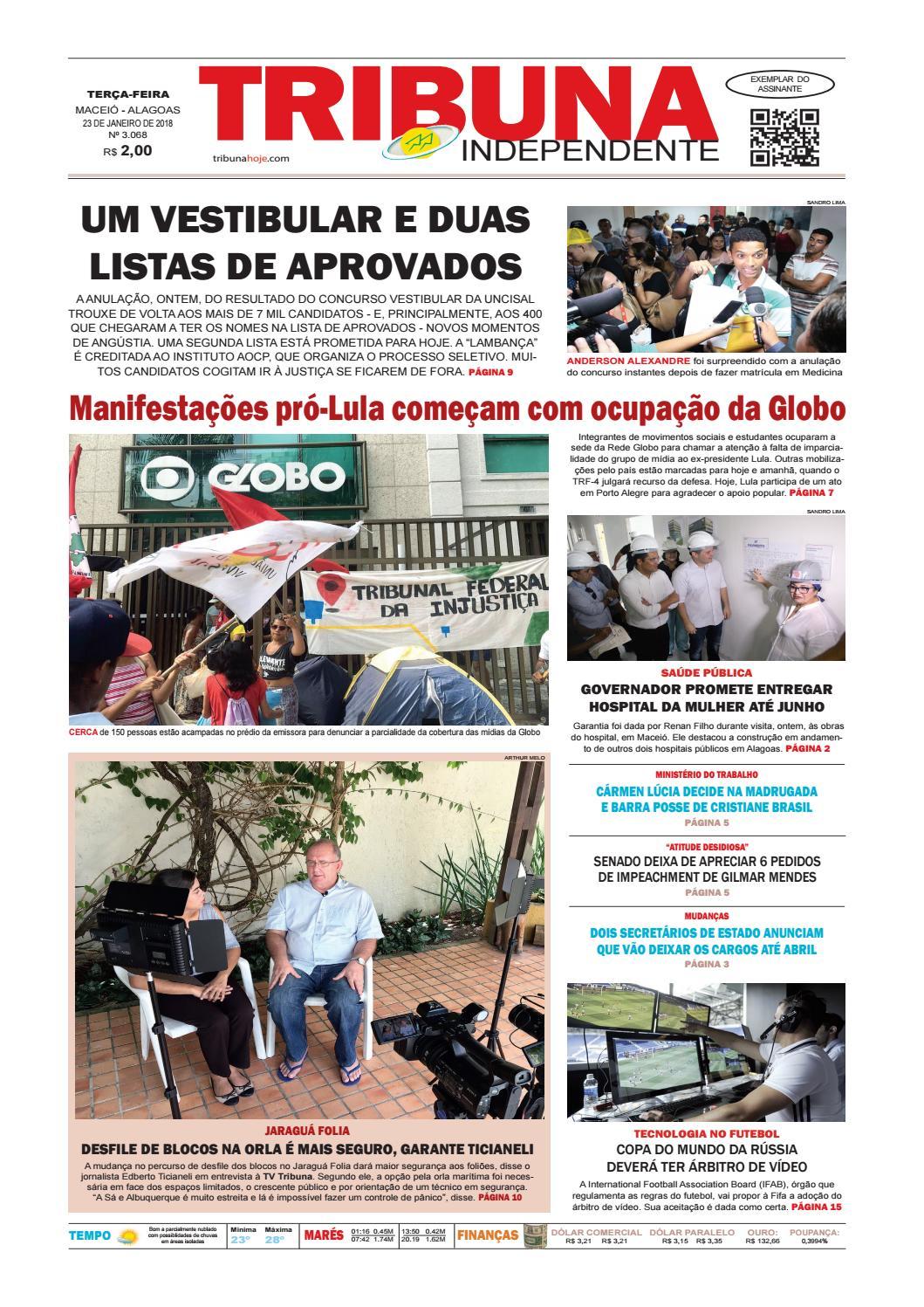 a7bbce5bffc Edição número 3068 - 23 de janeiro de 2018 by Tribuna Hoje - issuu