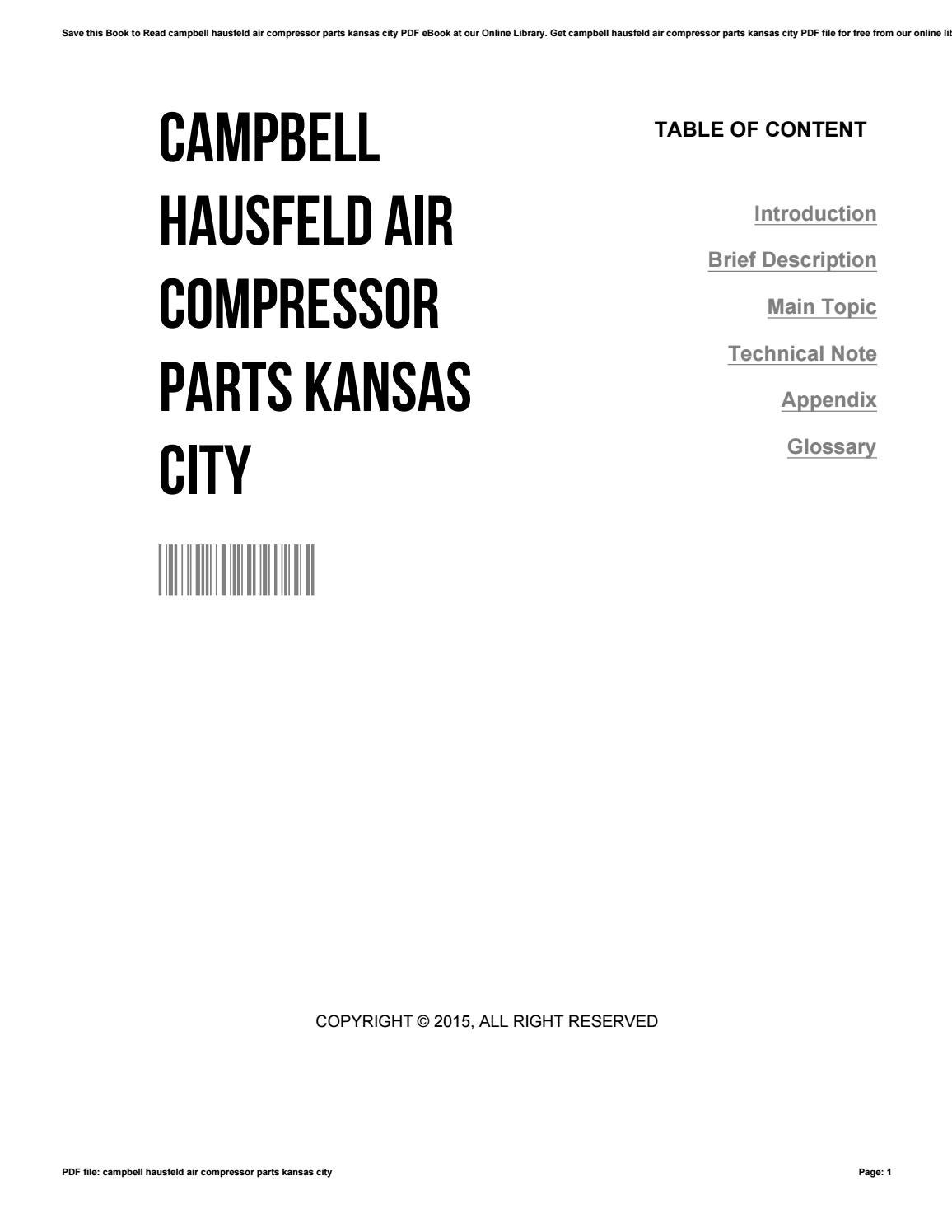 Campbell hausfeld air compressor parts kansas city by zhcne05 - issuu
